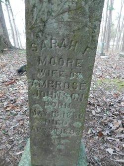 Sarahh F. <i>Moore</i> Johnson