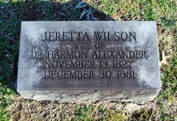 Jeretta <i>Wilson</i> Alexander