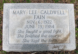 Mary Lee <i>Caldwell</i> Fain