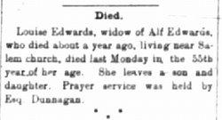 Louisa G Lou <i>Vaughan</i> Edwards