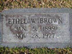 Ethel <i>Whiteside</i> Brown