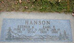 Esther Adale <i>Auby</i> Hanson