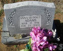 Indiana Pearl Anna <i>Quinney</i> Adams