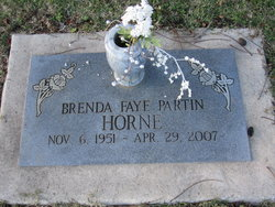 Brenda Faye <i>Partin</i> Horne