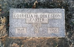 Cordelia Virginia <i>Huddleston</i> Carter