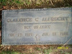 Sgt Clarence C Albrecht