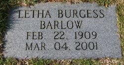 Letha Octavia <i>Burgess</i> Barlow