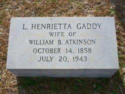 Lucy Henrietta <i>Gaddy</i> Atkinson