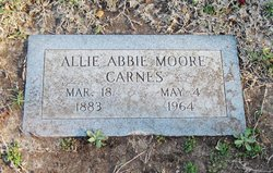 Allie Abbie <i>Moore</i> Carnes