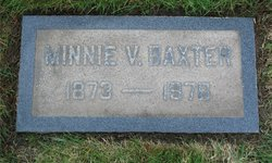 Minnie Virginia <i>Armstrong</i> Baxter