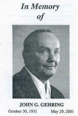 John George JG Gehring
