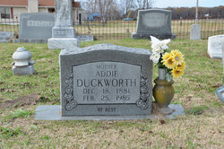 Addie <i>Ducksworth</i> Duckworth