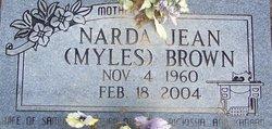 Narda Jean <i>Myles</i> Brown