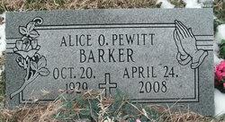 Alice O <i>Pewitt</i> Barker
