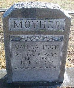 Eliza Matilda <i>Ipock</i> Avery