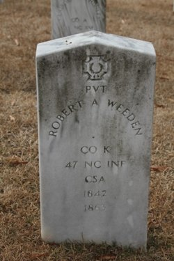Pvt Robert A. Weeden