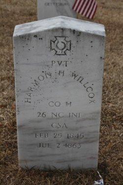 Pvt Harmon H. Wilcox