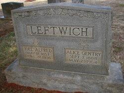 Eliza Alice <i>Gentry</i> Leftwich
