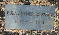 Eula <i>Snyder</i> Bowman