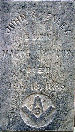 Rev John S Henley