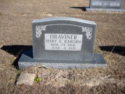 Mary Eliza <i>Raburn</i> Draviner