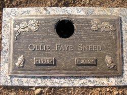 Ollie Faye <i>Graham</i> Sneed