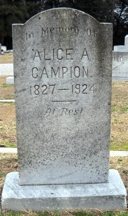 Mrs Alice <i>Barkley</i> Campion