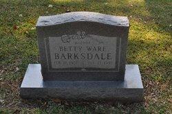 Betty Jean <i>Ware</i> Barksdale