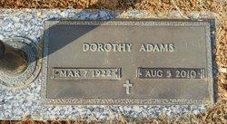 Dorothy <i>Roark</i> Adams