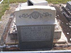 Hannah Elizabeth <i>Reeder</i> Mauldin