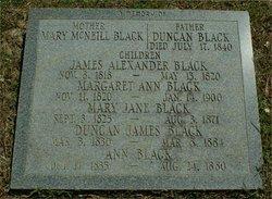 Mary <i>McNeill</i> Black