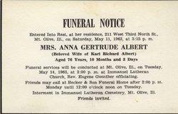Anna Gertrude Albert