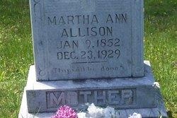 Martha Ann <i>Leatherwood</i> Allison