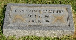 Fannie Myrtle <i>Alsup</i> Carothers