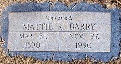 Mrs Mattie R <i>Newton</i> Barry