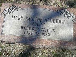 Mary Pauline Polly <i>Hamilton</i> Aldridge