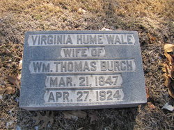 Virginia Hume <i>Wale</i> Burch