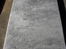 Carrie Sheila <i>Pritchett</i> McPheeters