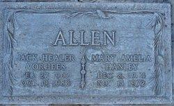 Mary Amelia <i>Hanley</i> Allen