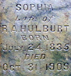 Mary Sophia <i>Whitaker</i> Hurlburt
