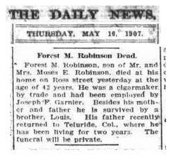 Forrest M Robinson