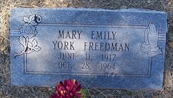 Mary Emily <i>York</i> Freedman