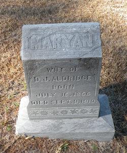 Maryan <i>Bullard</i> Aldridge