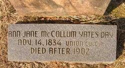 Ann Jane McCollum <i>Yates</i> Day