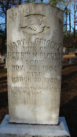 Mary A <i>Grigsby</i> Blount