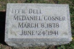 Effie Dell <i>McDaniel</i> Cosner