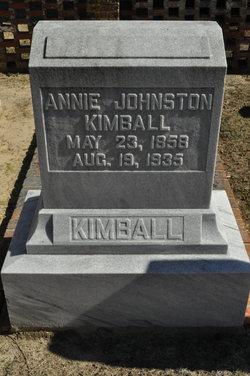 Annie <i>Johnston</i> Kimball