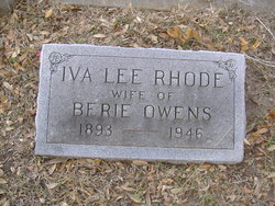 Iva Lee <i>Rhode</i> Owens