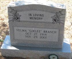Velma Girlee <i>Wynne</i> Branch