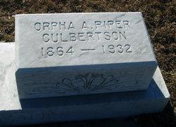 Orpha Ann <i>Piper</i> Culbertson